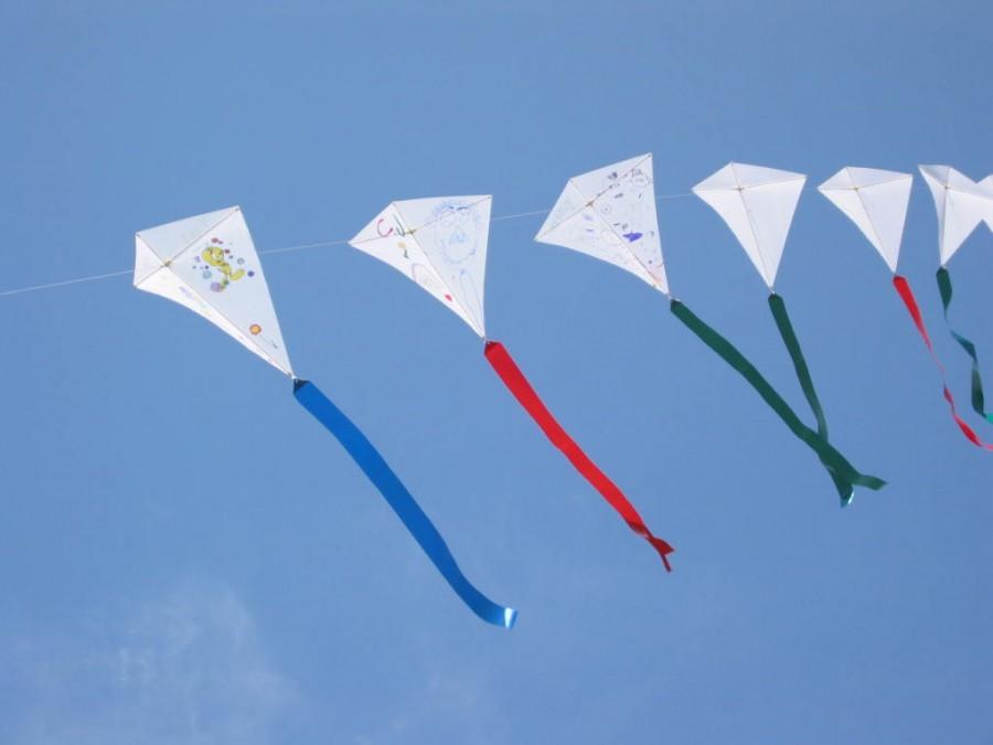 Kid decorated kites