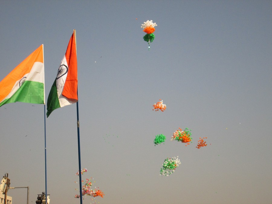 Flag Festival India: Indian Flag March At International Kite Festival 2013