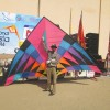 Paavan Solanki - Largest Delta Kite Flying at Dubai International Kite Festival 2014