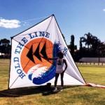 A large 17 ft x 13ft diamond kite