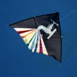 A 10ft Block of Flats delta kite (Tony Wolfenden variation) with tap appliqué