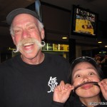 Corey Jensen and TK Barresi, with moustaches