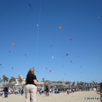 100 kites flew in the sky