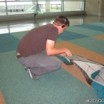 Paul DeBakker tuning his indoor kite...