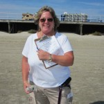 Laura Berg, judging clipboard in hand...