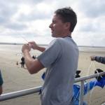 Mike Dallmer Jr flies from the boardwalk...