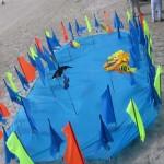 An interesting aquatic kite display...