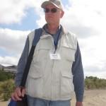 Mike Mosman between kite fields...
