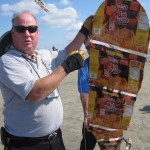 Rick Hawkins and his snack package kite