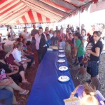 Pie eating contest at Antelope Island Stampede