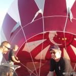 John Barresi helps prep a balloon before going for a ride...