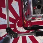 View inside a hot air balloon...