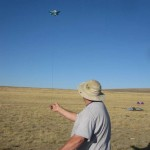 Simon Crafts launches a creation at Antelope Island...