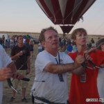 Watty and iQuad fly in front of the hot air balloons...