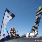 Spence Watson and John Barresi work the BMX ramps...