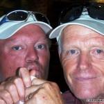 Steve de Rooy and Ron Bohart ham it up...
