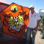 Steve de Rooy with his handmade rokkaku...