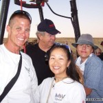 John and TK Barresi after their balloon ride with Don Steckley...