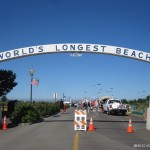 The trademark arch, World's Longest Beach!