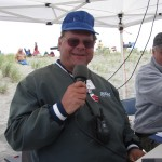 Bob Wendt worked the microphone most of the week...