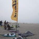 Sport kite competitors prepare...