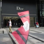 Spence Watson in front of Dior