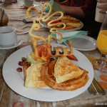 One of the many fine breakfasts at La Capucine