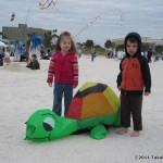 Bouncing turtle with kids