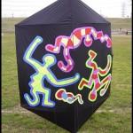 A rokkaku handmade by Akiyoshi Odagawa Ripstop and glass spars