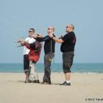 John, Jose, Niels and Dan practice some team maneuvers