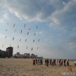 Rev kites in grid formation