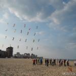 Rev kites in grid formation