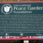T-Peace Garden Plaque