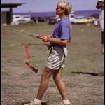 Scott Aughenbaugh  flying four kites!