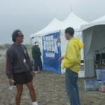 Ron Despojado and Ari Contzius between events.