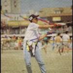 Jason Loo flying two kites.