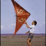 Malcolm Moore using a USA/USSR kite theme.