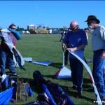 Corey supervising the unveiling of new Decs kites