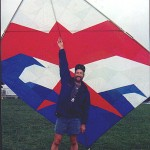 Scott Skinner with his Tosa kite