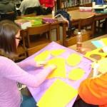 Tenth grader Cheyenne Vaughan tries her hand at design.