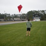 Ninth grader Jackson Stacy seems to have a helicopter kite as it seems to stand still in the air or maybe he is using the force!