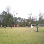 Mrs. Kemp's 6th period class launch kites successfully.