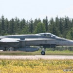 An F18 landed and took off right beside the flying field