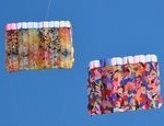 16 sq foot foil made from Ty Billings Fabric, with 300 sq foot patchwork foil