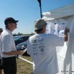 250 - Troy Gunn, Darrin Skinner and Ed Skow reviewing the flight orders