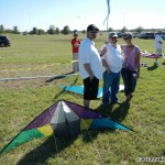 397 - Aaron Champie, Jerry Hershey, Ann Vondriska in the sport kite staging area