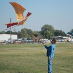 638 - Scott Skinner flying cotton sail kite