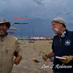 Microburst - Mike MacDonald and Corey Jensen share a chuckle before the rain came down