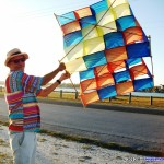 Great Texas Club Fly - Chris with cellukar kite