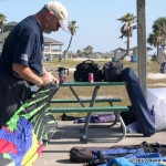 Great Texas Club Fly - TC assembles one of many parrot head themed kites
